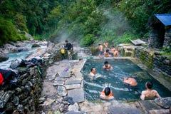 Nepal - 2 January 2017 :: Jhinu Hot Spring Nepal Royalty Free Stock Image