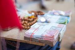 Nepal - 3January 2017 :: local money exchange shop at Boudhanath Stock Images