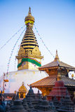Nepal - 4 January 2017 :: Swayambhunath - monkey temple in Nepal Royalty Free Stock Photos