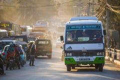 Nepal - 4 January 2017 :: traffic jam in Kathmandu town Stock Images