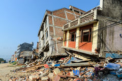 Nepal jordskalv Arkivbild