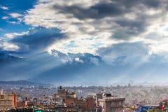 Nepal, Kathmandu dolina, chmurny dzień Obraz Stock