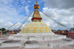Nepal, Kathmandu, the largest Buddhist stupa is Boudhanath ( Bodnath) Royalty Free Stock Images