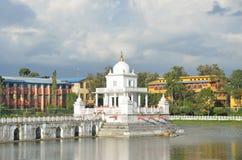 Nepal, Kathmandu, Rani Pokhari pond, in the center of the sanctuary of Shiva Stock Photography