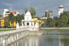 Nepal, Kathmandu, Rani Pokhari pond, in the center of the sanctuary of Shiva Royalty Free Stock Photo
