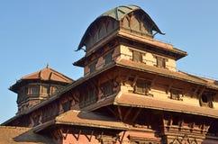Nepal, Kathmandu, roosf of the Royal Palace Hanuman Dhoka Royalty Free Stock Photography