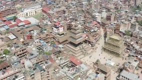 Nepal, Katmandu, Bhaktapur Cantidad a?rea almacen de metraje de vídeo