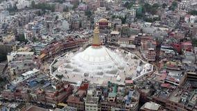 Nepal, Katmandu Boudhanath Stupa Cantidad a?rea almacen de video
