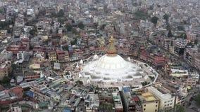 Nepal, Katmandu Boudhanath Stupa Cantidad a?rea almacen de metraje de vídeo