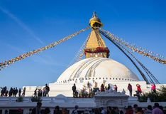 Nepal, Katmandu - Buddhist stupa - Buddhist place Stock Photos