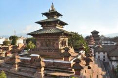 Nepal, Katmandu, cuadrado de Darbar, templo de Taleju En el cuadrado de la primavera 2015 destruido parcialmente durante el terre foto de archivo