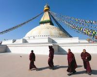 Nepal Katmandu -17th av December 2013: Tibetant B Arkivbild
