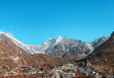 Nepal Kyanjin Gompa Langtang Lirung stock photography