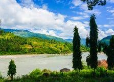 Nepal lake. Mountain at asia Stock Image