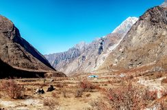 Nepal Langtang valley stock images
