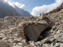 Nepal langtang villlage earthquake rubbish stock images