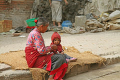 Nepal-Leute Lizenzfreie Stockfotografie