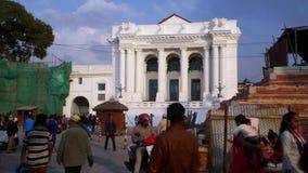 NEPAL, LISTOPAD - 11, 2018: Durbar kwadrat z ruinami Opuszczał po trzęsienia ziemi w Kathmandu zbiory