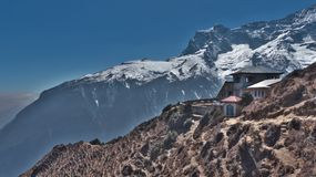 Nepal, Luxushotel in Everest-Wanderung lizenzfreies stockbild