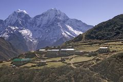 Nepal macchhermo wioski Obrazy Royalty Free
