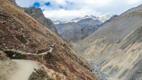 Nepal - Manang-Tal lizenzfreie stockbilder
