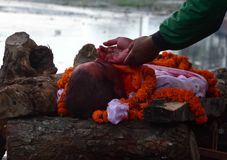 NEPAL-MASS-CREMATION Royalty Free Stock Photography