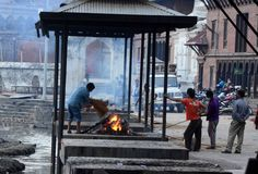 NEPAL-MASS-CREMATION Royalty Free Stock Image