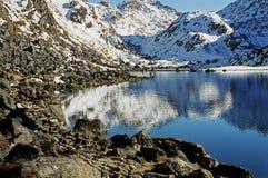 Nepal, meer Gosainkund. Stock Foto's