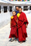 Nepal monks Stock Images