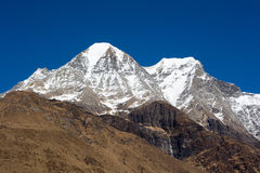 Nepal. Mountain Manaslu vicinities. Stock Photography