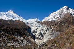 Nepal. Mountain Manaslu vicinities. Royalty Free Stock Images