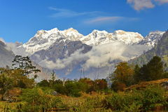 Nepal. Mountain Manaslu vicinities Stock Image