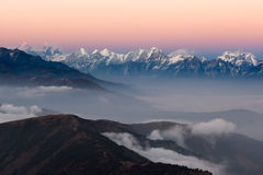Nepal Mountains Landscape Aerial View With. Royalty Free Stock Photos