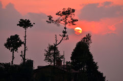Nepal. Nagarkot Zdjęcie Royalty Free