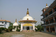Nepal nunnery temple in Lumbini Royalty Free Stock Photos