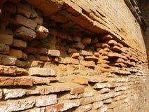 Nepal old brick wall. Close up old brick wall in Nepal Royalty Free Stock Image