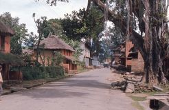 1975. Nepal. Ouiet street in Pokhara. The picture shows a quiet street in the outskirts of Pokhara Stock Photo