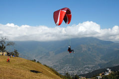 nepal paragliding Obrazy Royalty Free