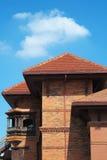 Nepal Pavillion van Rode Bakstenen Stock Fotografie