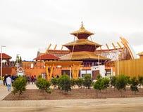 Nepal-Pavillon, Ausstellung 2015, Mailand Lizenzfreies Stockbild