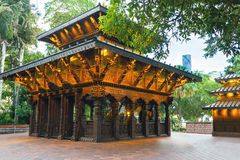 Nepal Peace Pagoda at South Bank Parklands in Brisbane. Queensland Australia Stock Photos