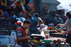 Nepal people. In people doing business on the Square Royalty Free Stock Images