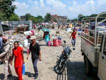 Nepal people in Kathmandu Stock Images