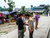 Nepal people in Kathmandu Royalty Free Stock Photography