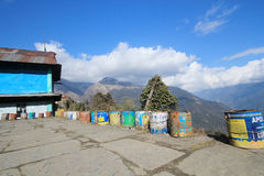 Nepal Poon Hill view Stock Images