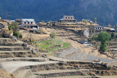 Nepal Poon Hill view Royalty Free Stock Photo