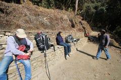 Nepal Poon wzgórza widok Zdjęcia Royalty Free