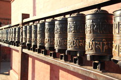 Nepal. Prayer wheels . Royalty Free Stock Images
