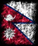 Nepal-Rauchflagge, Land in Südasien im Himalaja lizenzfreie abbildung