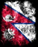 Nepal-Rauchflagge, Land in Südasien im Himalaja stock abbildung